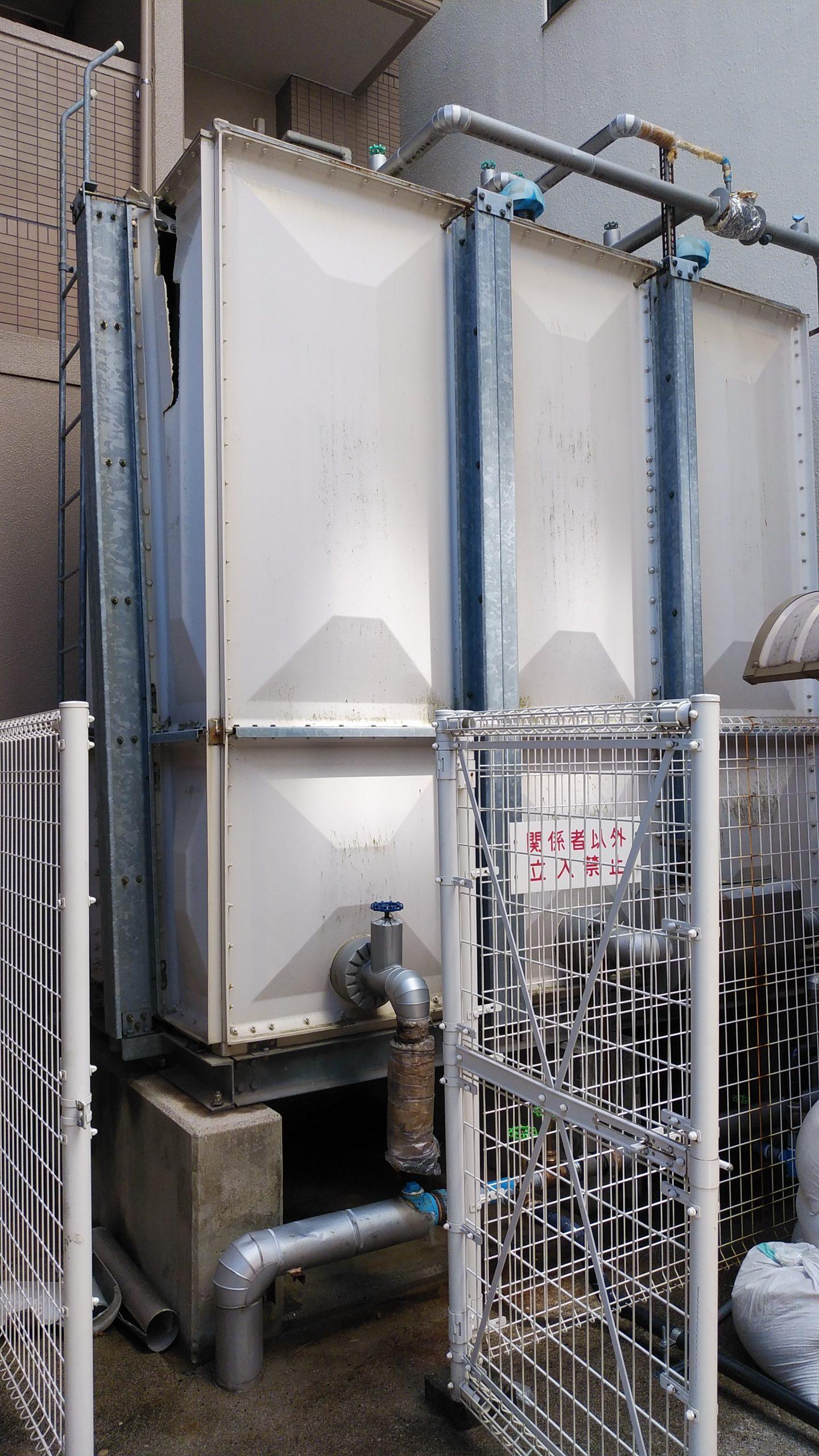 広島県広島市中区 受水槽の更新工事