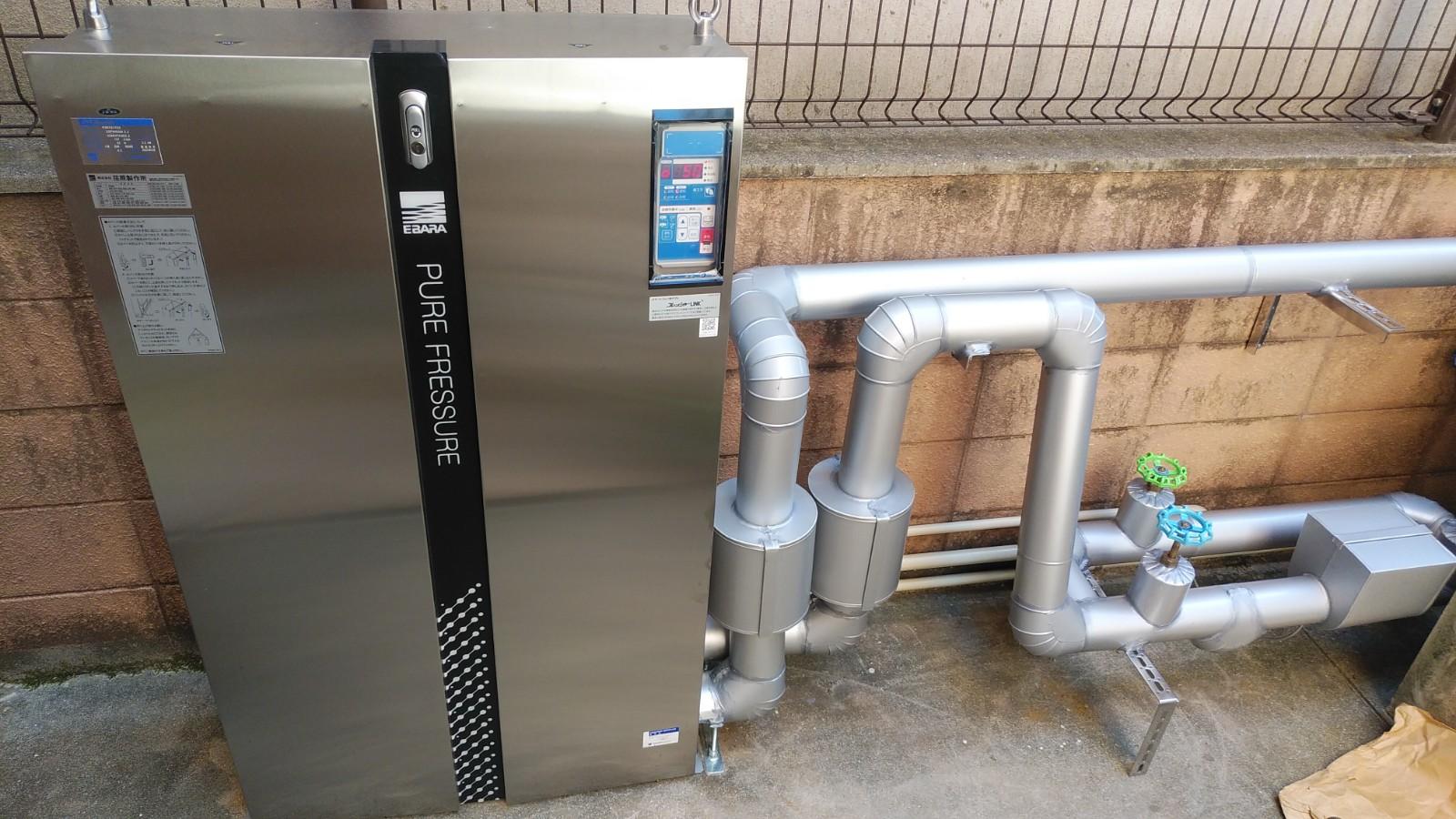 広島県広島市中区猫屋町 直結給水用ブースターポンプの設置